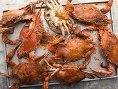 Maryland's Old Bay Steamed Blue Crabs --> Plentiful Chesapeake Bay blue crabs (meaty male Jimmies, only!) are smothered in Old Bay Seasoning and steamed. #AcrosstheCountry