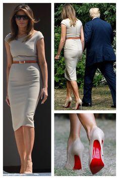 President & First Lady Melania Trump Milania Trump Style, First Lady Melania Trump, Melania Trump Shoes, Melania Knauss Trump, Malania Trump, Moda Chic, Ivanka Trump, Mode Style, Fashion Dresses