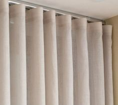 Suisso rail curtain rnrnSource by melinicooper Cortina Wave, House Outside Design, Diy Wall Painting, Curtain Room, Curtains With Blinds, Window Coverings, Window Treatments, Small Apartments, Dream Bedroom
