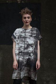 Teresa Searle 2015 Mivart Dress Digital Print on Silk Twill