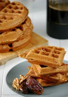 Maple Walnut Waffles