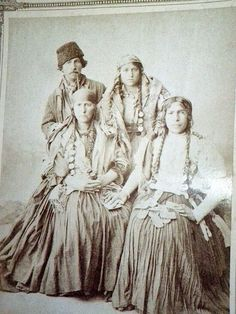 RUSSIAN GYPSY photograph 1890s.  My great grandmother was part of a Russian Gypsy Caravan.