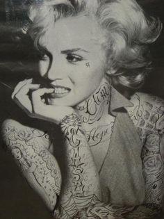 tattooed Marilyn Monroe <3