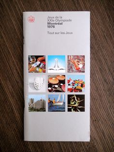 1976 Montréal Olympics Guide. Designed by Georges Huel and Pierre-Yves Pelletier