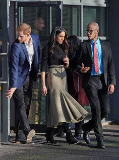 Prince Harry and Meghan Markle at the Nottingham Academy in Nottingham during their first official engagement together