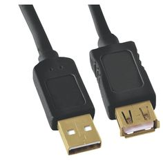 GE HO97837 A-Male to A-Female USB 2.0 Cable (10ft)