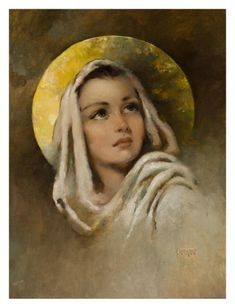 """Mary"", painting by Florence Kroger"