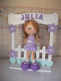 love the backdrop on this little gal, made from fun foam Foam Crafts, Diy Crafts, Baby Shower, Lalaloopsy, New Hobbies, Boy Or Girl, 3 D, Backdrops, Projects To Try
