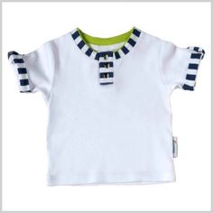 Stripe trim Baby boy Tee  Spring/Summer 14 Li'l Zippers