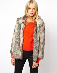 Vintage faux fur coat. WANT!