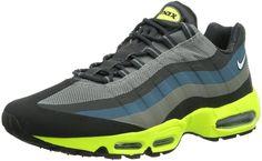 new arrival 8f814 a2cb8 Nike Men s Air Max 95 No Sew Running Shoes 616190 007 Grey Volt Black