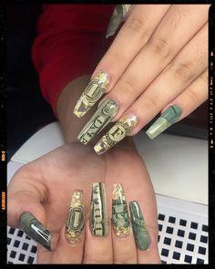 Long Square Acrylic Nails, Acylic Nails, Love Nails, Nails Inspiration, Gel Nails, Class Ring, Nail Designs, Nail Art, Ideas Para