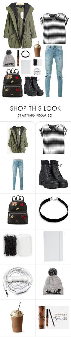 """""""***"""" by milica-tadic-3 on Polyvore featuring Monki, Yves Saint Laurent, UNIF, IMoshion, Design Lab, Forever 21, ASOS and Urbanears"""