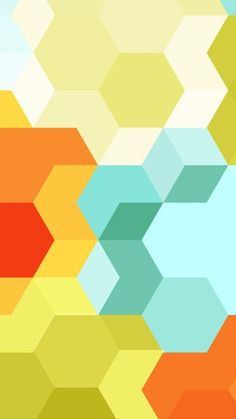 Cubes And Hexagons iPhone 5 / SE Wallpaper