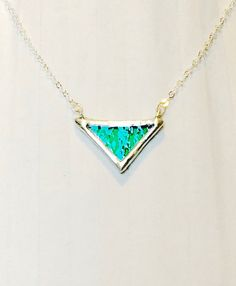 Emerald Green Stained Glass Triangle by G2B5PrimitivePeople