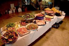 wedding menu buffet ideas | By serving platters of a variety of cold cuts, cheeses, and other ...