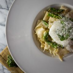 parpadelle with asparagus and lemon