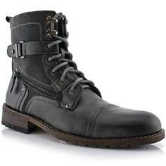 6 Vegan Duck Boots to Buy for When It's West Outside 2019 - Polar Fox Asher Mens Cap Toe Ankle Lace-up Dress Combat Motorcycle Boots Grey Leather Motorcycle Boots, Biker Boots, Riding Boots, Combat Boots, Vegan Boots, Vegan Clothing, Vegan Fashion, Duck Boots, Shoe Boots