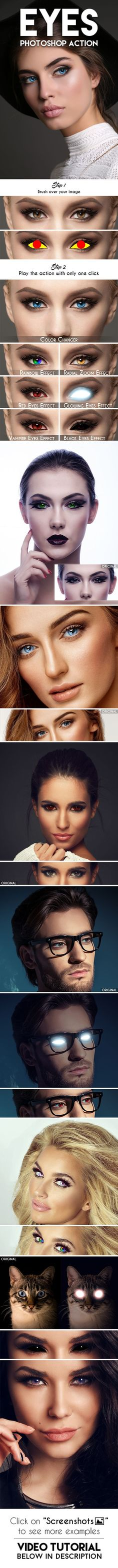 Eyes #Photoshop #Action - #Photo Effects Actions Download here: https://graphicriver.net/item/eyes-photoshop-action/19363896?ref=alena994