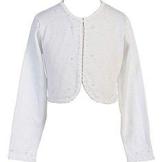 Designer Kidz Little Girls Pink Button Long Sleeved Thalula Fur Shrug 2-6
