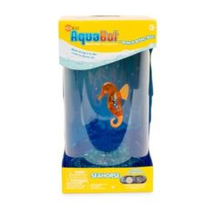 HEXBUG Aquabot Seahorse with Tank No feeding, no diseases, no vet bills and no worries pet. The seahorse swims and bounces in its own tank and it has buoyancy adjustments that allow for customized swimming patterns.