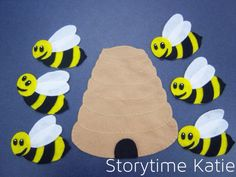 Flannel Friday: Six Little Bumblebees – storytime katie