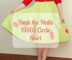 Mode de Lis: · Deck the Halls Skirt Tutorial · #iloverileyblake #rileyblakedesigns #circleskirt #modedelis