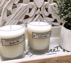 Perfect scents for a bathroom.  All natural, hand poured by me.  thegoodcandle.com