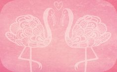 Adorable flamingo, free printable Valentines day card by cinda b.  Print and enjoy!