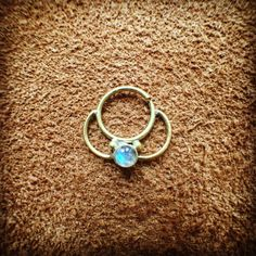 Brass Septum Ring for Pierced Nose Indian Tribal by FeralGypsy