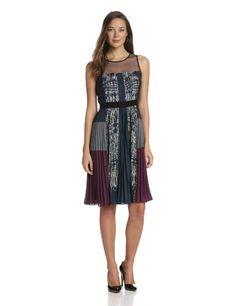 BCBGMAXAZRIA Women's Lucea Pleated Side Skirt Dress #workdresses