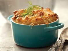 Mac and Cheese Soufflé with Country Ham from Sweet Potatoes Restaurant