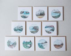 Set of Ten greeting cards - your choice of designs - blank - watercolour - recycled, 125mm square - with kraft envelopes by cedricandmelody on Etsy https://www.etsy.com/au/listing/480757863/set-of-ten-greeting-cards-your-choice-of