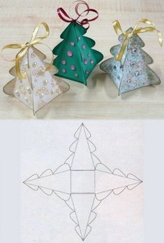 Pretty little paper Christmas tree idea