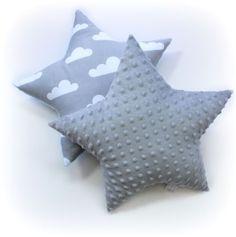 Soft-minky-STAR-shaped-PILLOW-or-CUSHION-nursery-decoration