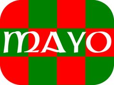 GAA county Mayo colours in a tattoo! The perfect size for the face, arm, neck or wrist.