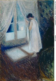 girl looking out the window- Edvard Munch