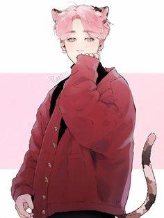 Yoonmin Fanart, Jimin Fanart, Kpop Fanart, Bts Anime, Anime Boys, Kpop Drawings, Korean Art, Bts Chibi, Cute Gay