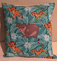 """Lion Guard, Pillow, Lion King, Kion, Simba, Nala, Kiara, Ono, Beshte, HANDMADE Disney Jr, Tv Show, Travel , Daycare , NEW Pillow is approximately 10"""" X 11"""" . THE PILLOW WOULD MAKE GREAT GIFT FOR BIRTHDAYS,HOLIDAYS, NAP TIME, CAR RIDES, HOSPITAL STAYS, DAY CARES & MORE. ~BRAND NEW~ ~HANDMADE~ Lion Guard This Cuddly Cotton Pillow is approximately 10"""" X 11"""" Also perfect for nap time, car seat, traveling, stroller rides, kids & teens rooms It is stuffed with 100% Hypo-Allergenic Premium..."""
