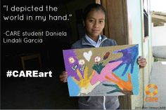 Our staff are collecting artwork from inspiring students who, thanks to CARE, are able to get an education. Daniela attends a CARE-supported school in Honduras.