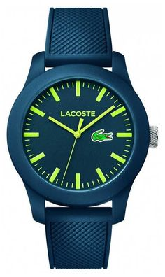 db699904caa Lacoste Unisex Navy Rubber Strap Navy Dial Green 2010792 Watch for sale  online