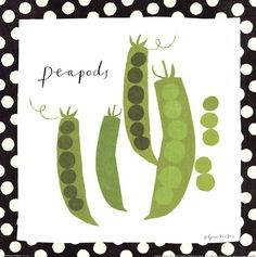 Simple Peapods by Susy Pilgrim Waters art print