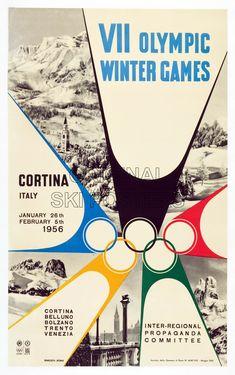 RJ039 Cortina Winter Olympics 1956 Original Ski Poster Affiche originale.jpg 1758 × 2800 pixlar
