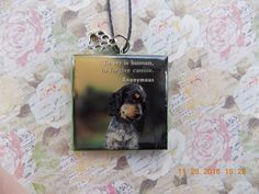 Dog Necklace//Dog Pendant//Necklace for Dog Lovers//Pendant for Spaniel Lovers//READY TO SHIP by PrettyPuppiesbyJ on Etsy