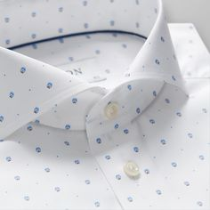 Race Car Driver Print Poplin Shirt - Slim fit | Eton Shirts Norway