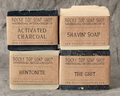 Manly Man Soap Set Natural Soap Handmade Soap door RockyTopSoapShop