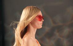 Gli occhiali arancio di Genny #mfw #htcfashionweek #SS2014