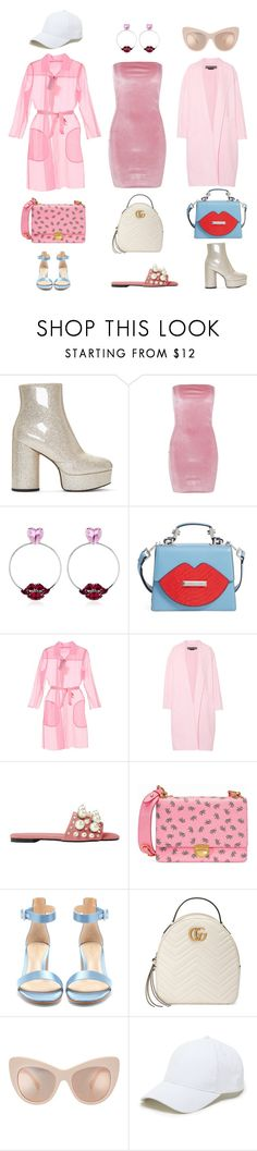 """""""How to Wear Millennial Pink"""" by catmlnguyen on Polyvore featuring Marc Jacobs, Boohoo, Anton Heunis, Kendall + Kylie, MaxMara, Rochas, Prada, Gianvito Rossi, Gucci and Sole Society"""
