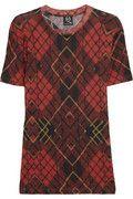 McQ Alexander McQueen Tartan-print fine-jersey T-shirt NET-A-PORTER.COM
