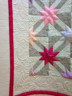 Longarm quilting (Handiquilter Avante) by Suzy Sparrowe: Hunter's star quilt… Star Quilt Blocks, Star Quilt Patterns, Star Quilts, Scrappy Quilts, Canvas Patterns, Longarm Quilting, Free Motion Quilting, Hunters Star Quilt, Cute Quilts